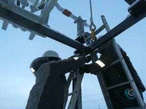 Фото электромонтаж - Работа на высоте
