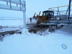 Фото электромонтаж - Уборка снега на стройплощадке