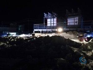 Фото электромонтаж - Работы в темное время суток