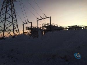 Фото электромонтаж - Строительство реклоузера Харьяга